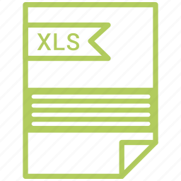 document, file, tag, xls icon