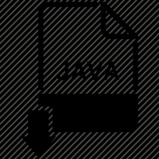 extension, file, java, name icon