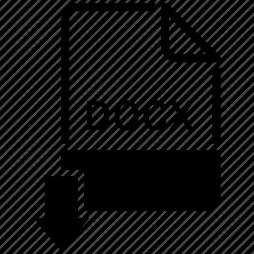 docx, extension, file, name icon