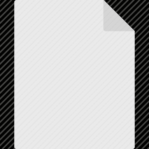 document, empty, file icon