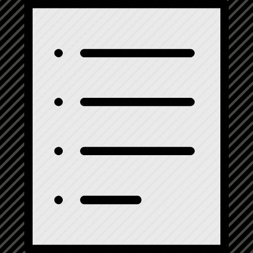 document, list, paper icon