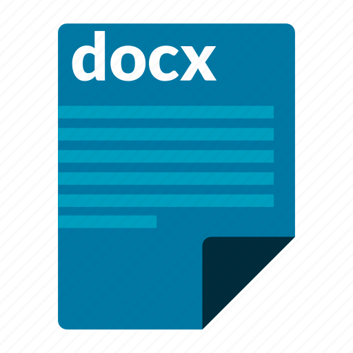 document, docx, file, format, word icon