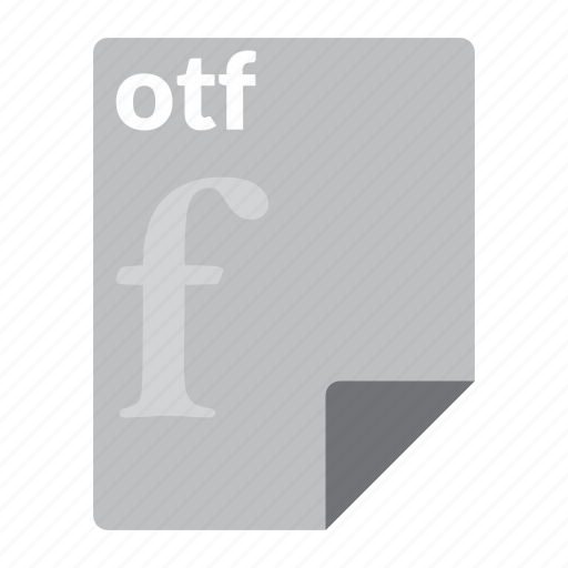 file, font, format, otf icon