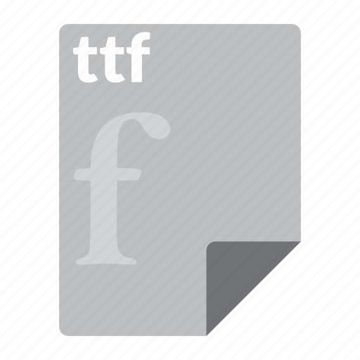 file, font, format, ttf icon