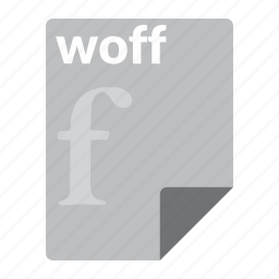 file, font, format, woff icon