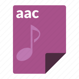 aac, audio, file, format, media icon