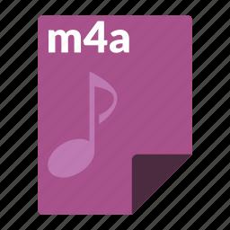 audio, file, format, m4a, media icon