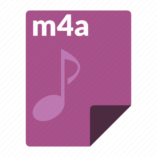 audio, file, format, m4a, media icon