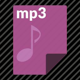 audio, file, format, media, mp3 icon