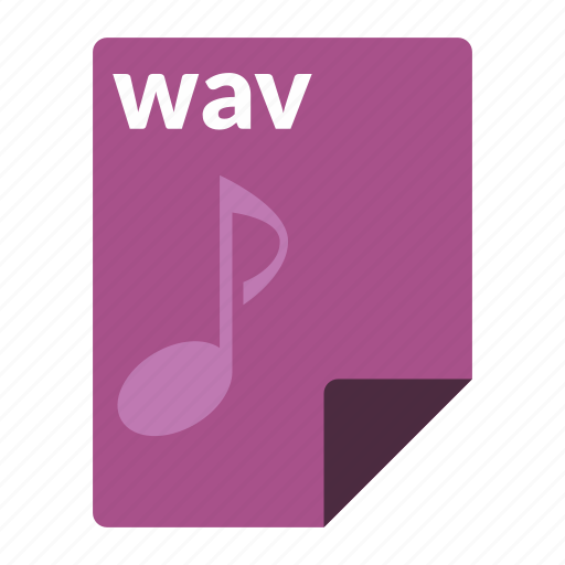 audio, file, format, media, wav icon