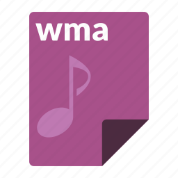 audio, file, format, media, wma icon