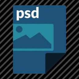file, format, image, media, photoshop, psd icon