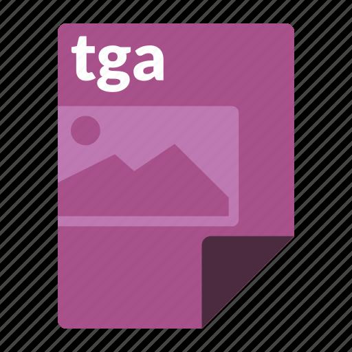 file, format, image, media, tga icon
