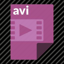 avi, file, format, media, video icon