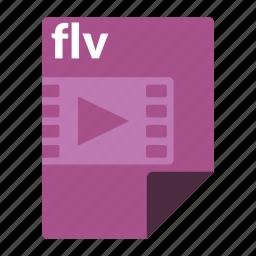 file, flv, format, media, video icon