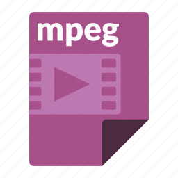 file, format, media, mpeg, video icon