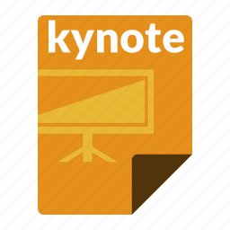 file, format, keynote, presentation icon