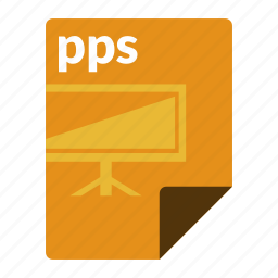 file, format, powerpoint, pps, presentation icon