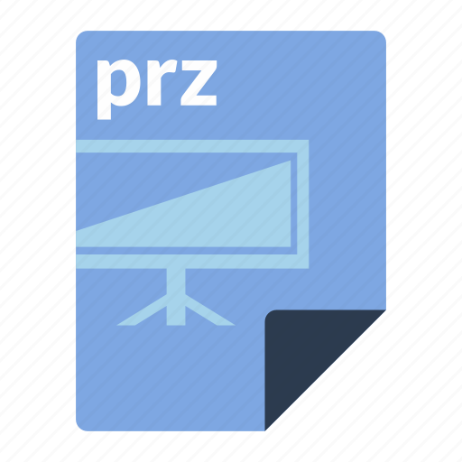 file, format, presentation, prezi, prz icon
