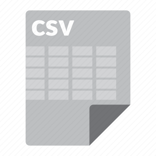 csv, file, format, spreadsheet icon