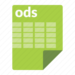 file, format, ods, spreadsheet icon