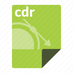 cdr, corel, drawing, file, format icon
