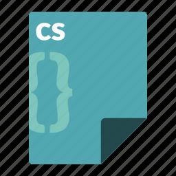 code, cs, csharp, file, format, language, programming icon