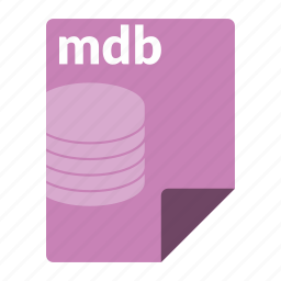 database, file, format, mdb icon