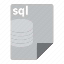 database, file, format, query, sql icon
