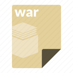 archive, file, format, java, war, web icon