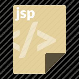 file, format, jsp, language, web icon
