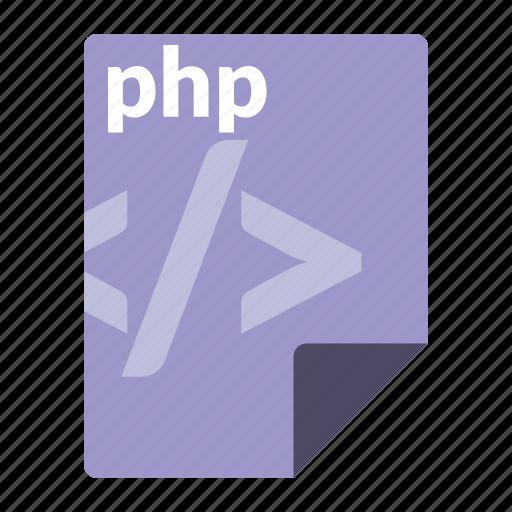 file, format, language, php, web icon