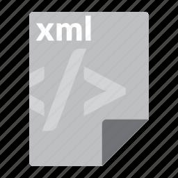file, format, markup, web, xml icon