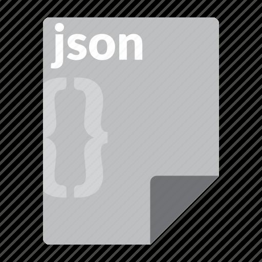 file, format, json, script, web icon