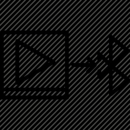 bluetooth, file, send icon
