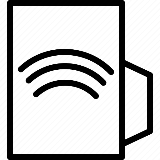 folder, share, wifi icon