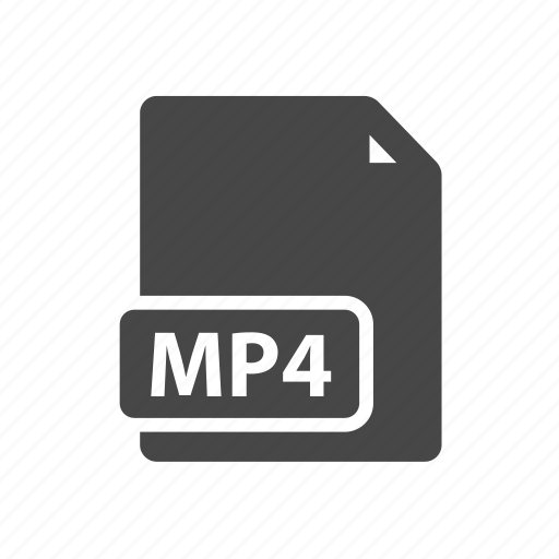 document, file, filetype, mp4 icon