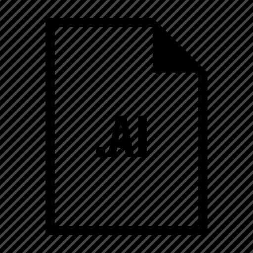 design, extension, file, format, illustrator icon