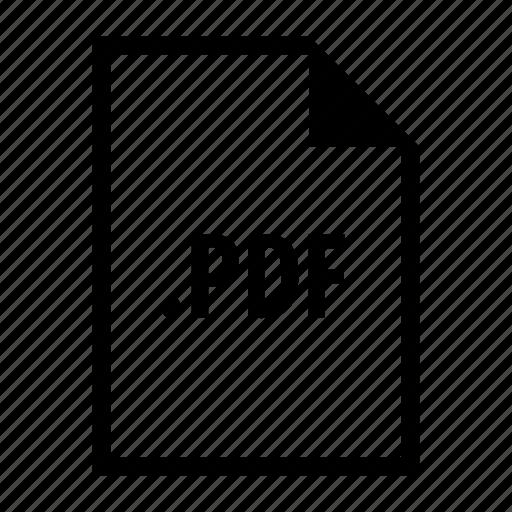 adobe, extension, format, pdf icon