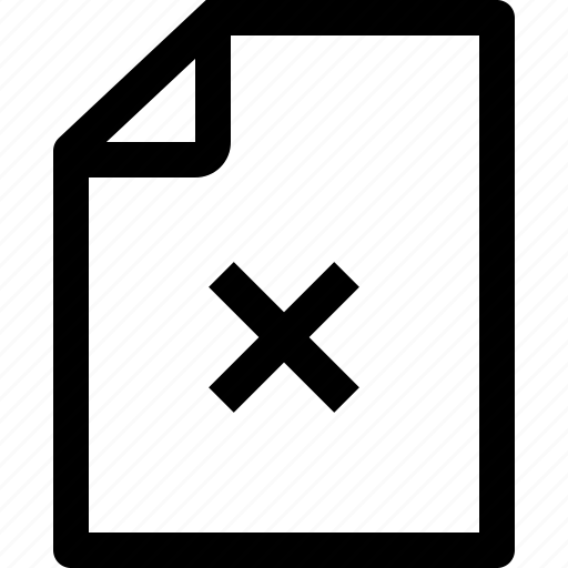 archive, business, document, file, paper, remove icon