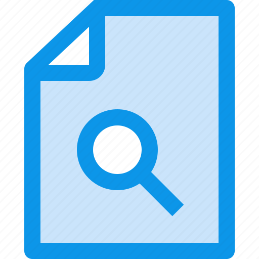 archive, business, document, file, paper, search icon