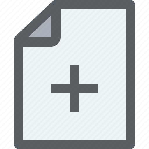 add, archive, business, document, file, paper icon