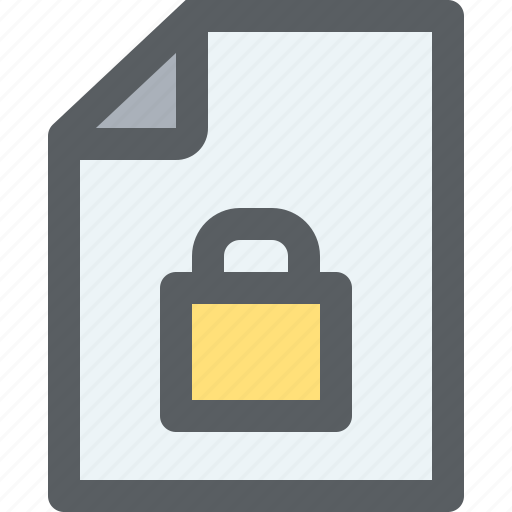 archive, business, document, file, paper, security icon