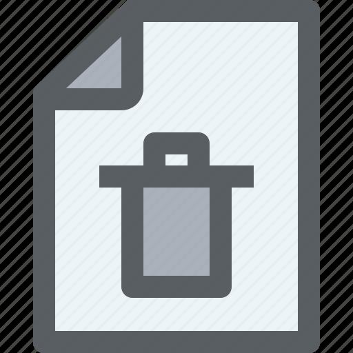 archive, bin, business, document, file, paper icon