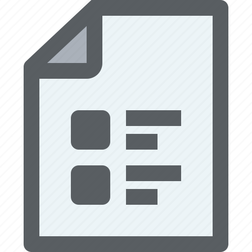 archive, business, check, document, list, paper icon