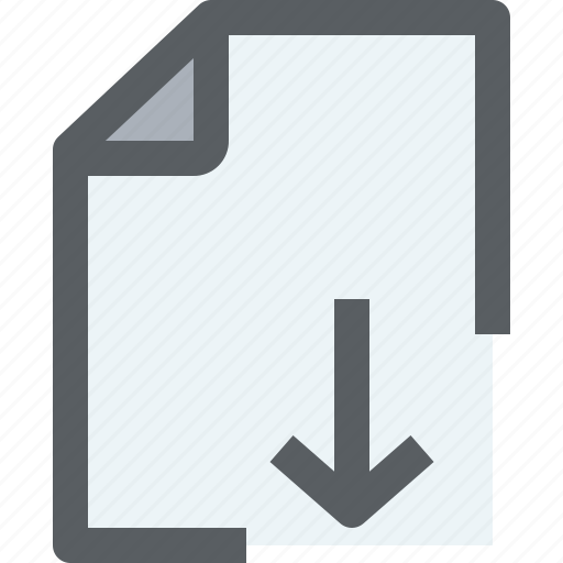 archive, business, document, download, file, paper icon