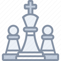 business, chess, game, king, peon, sports, strategy icon