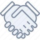 business, deal, hands, handshake, partner, trust icon