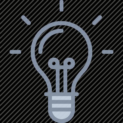 bulb, business, electricity, energy, idea, light icon