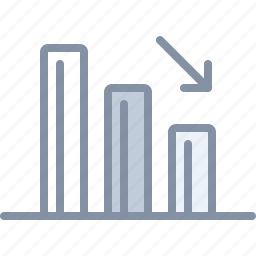 analytics, chart, diagram, loss, statistics icon